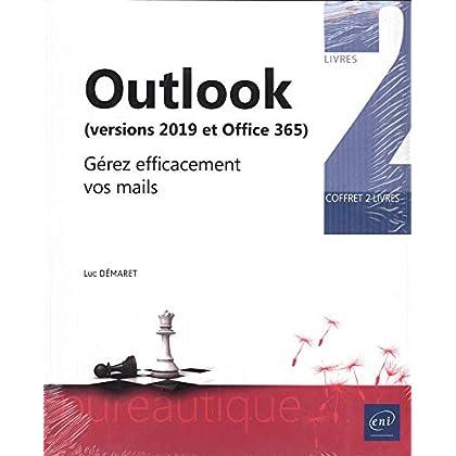 Outlook (versions 2019 et Office 365) - Coffret de 2 livres : Gérez efficacement vos mails