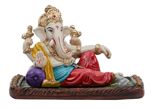 Affaires Beautiful Ganesha Polyresin Sculpture for Car/Office Decor/Ideal Gift to your Loved Ones(Multicolour) 4144xgQOe1L