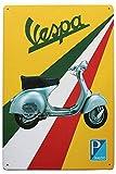 HALEY GAINES Vespa Electric Cars Targa in Metallo Decorazione Parete Cartello Vintage Appendere Poster retrò Muro Placca per Bar Cucine Bagni Garage Hotel Giardino 20×30cm