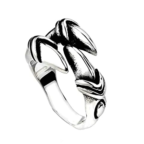 Bishilin Jewelry Mens Stainless Steel Dragon Claw Rings V 1/2