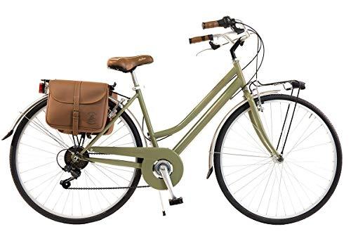 Via Veneto by Canellini Bicicleta Bici Citybike CTB Mujer Vintage Retro Via Veneto Acero (Verde, 46)