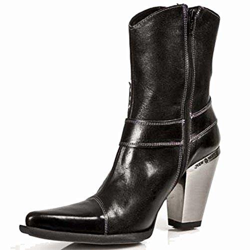 New Rock 7919-S1, Scarpe casual, donna Nero (nero)