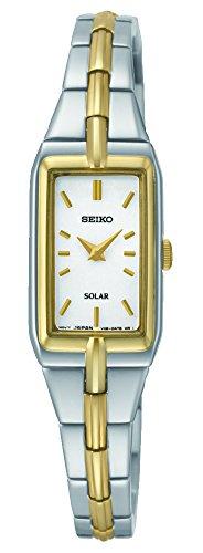 Seiko Damen Analog Solar Uhr mit Edelstahl Armband SUP272P9 - Seiko Damen Solar Uhr