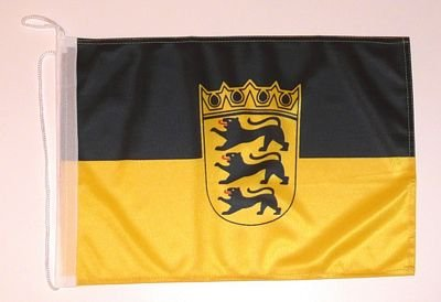 Bootsflagge Baden Württemberg Flagge Fahne 25 x 40 cm FLAGGENMAE® Bootsfahne
