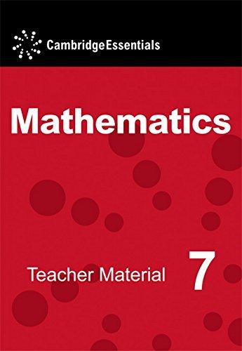 Cambridge Essentials Mathematics Year 7 Teacher Material CD-ROM