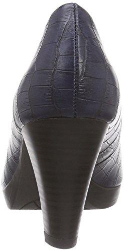 Marco Tozzi 22420, Chaussures à talons - Avant du pieds couvert femme Bleu - Blau (Navy Structure 801)