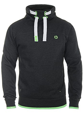 !Solid Benjamin Herren Sweatshirt Pullover Pulli Mit Stehkragen Und Fleece-Innenseite, Größe:M, Farbe:Dark Grey Melange (8288) Camouflage-fleece-pullover