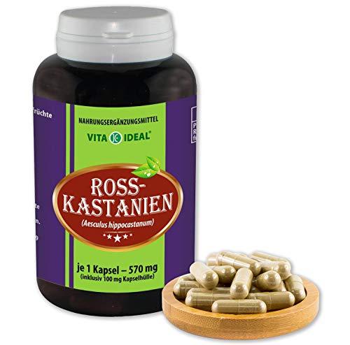 VITA IDEAL  Rosskastanien (aesculus hippocastanum) 180 Kapseln je 570mg, aus rein natürlichen...