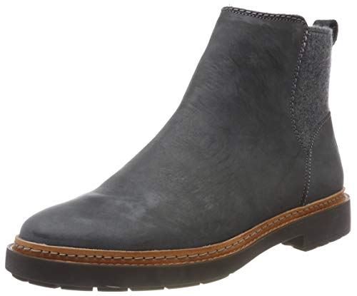 Clarks Damen Trace Fall Chelsea Boots, Grau (Dark Grey Combi), 40 EU