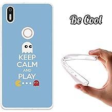 Becool® - Funda Gel Flexible para bq Aquaris X5 Plus .Carcasa TPU fabricada con la mejor Silicona ,protege se adapta a la perfección a tu Smartphone y con nuestro diseño exclusivo Keep Calm Comecocos Azul