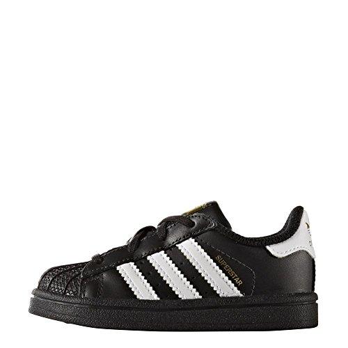 Zapatillas adidas - Superstar I negro/blanco/blanco talla: 20