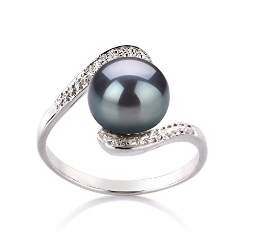 black-9-10mm-aa-quality-freshwater-925-sterling-silver-cultured-pearl-ring-size-s