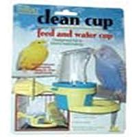 إكسسوار كلين كب للطعام والماء للطيور من شركة جيه دبليو بت، مقاس صغير، قد تختلف الألوان