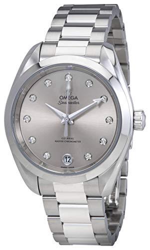 Omega Seamaster 220.10.34.20.60.001 Montre pour Femme avec Cadran argenté et Diamant
