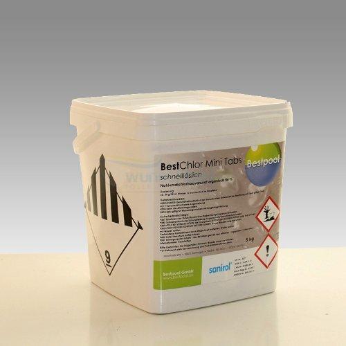 Pflege 90 Tabs (Sanirol Chlor Quadro Mini Tabs schnelllöslich 5 Kg)