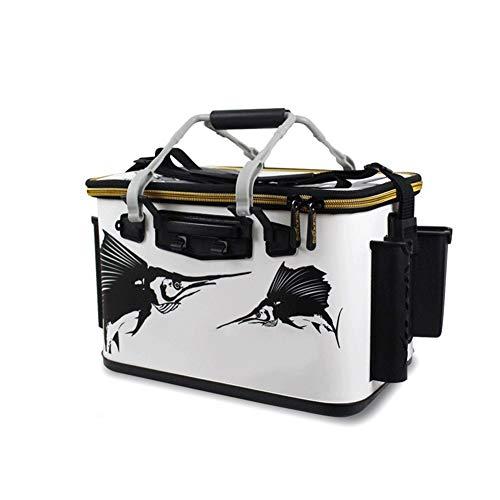 AZZEimer Portable Large-Capacity Outdoor Camping Angeln Faltwasser Eimer Auto Vorratsbehälter Tragbare Angelwerkzeuge (Size : 36CM)