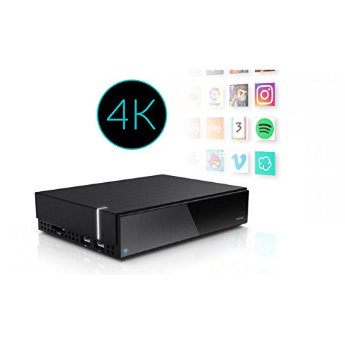 Engel EN1002K - Receptor Android IPTV Box 4K, Color Negro