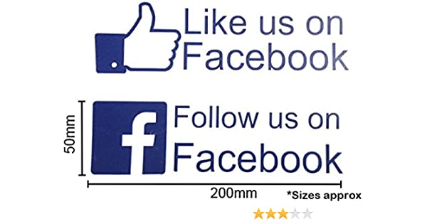 Like Us Find Us On Facebook Car Shop Window Vinyl Sticker - Car window decals for business uk