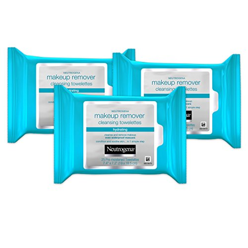 Neutrogena Hydrating Makeup Remover Cleansing Towlettes, 25 Count (Pack of 3) by Neutrogena BEAUTY (English Manual)