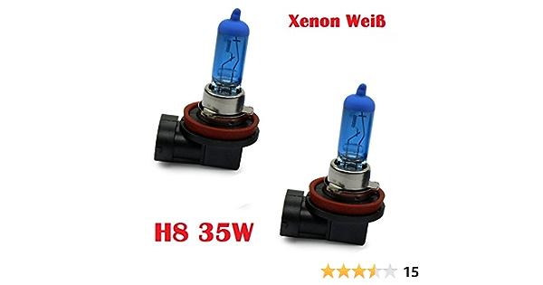 Halogen Scheinwerferlampe Xenon Weiss Nebellampe Glühlampen Für Nebelscheinwerfer 12volt Zugelassen Im Bereich Der Stvzo Inion 2x H8 35w Auto