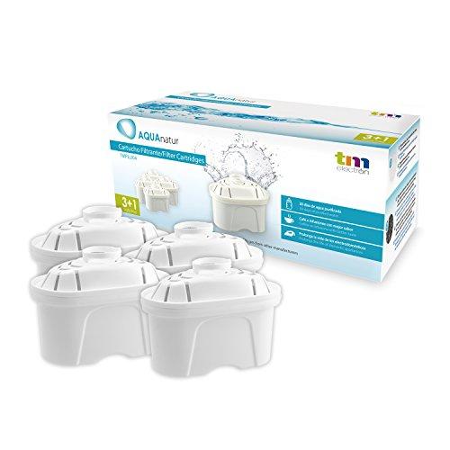 Tm Electron Tmfil004 Pack de 4 a 8 Meses compatibles con Las jarras brita maxtra, 1 Cartucho de Filtro purifica de 100 a 200 litros de Agua, plastic