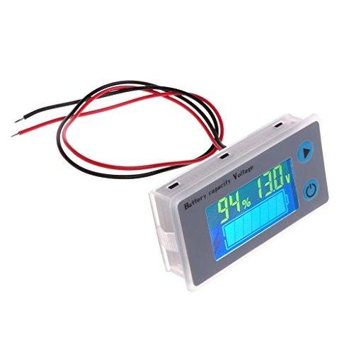 10–100V universal Voltímetro Capacidad de batería Tester LCD Auto Indicador de plomo...