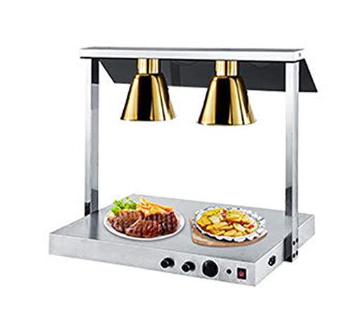 RHSML Teleskop EinzelwäRmlampe Versenkbarer HäNgeleuchter füR Buffet Cafeteria Food Insulation Buffet Food Court Resturant KüChenbuffet,Gold,M