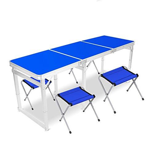 �lzerner quadratischer Klapptisch - Stuhl 6 Fuß mit Griff - und höhenverstellbarem Aluminium Bein Camping Outdoor Heavy - Klappbarer Esstisch - Computertisch @@ ()