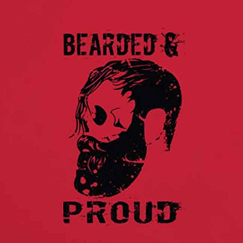 Bearded and Proud - Stofftasche / Beutel Rot