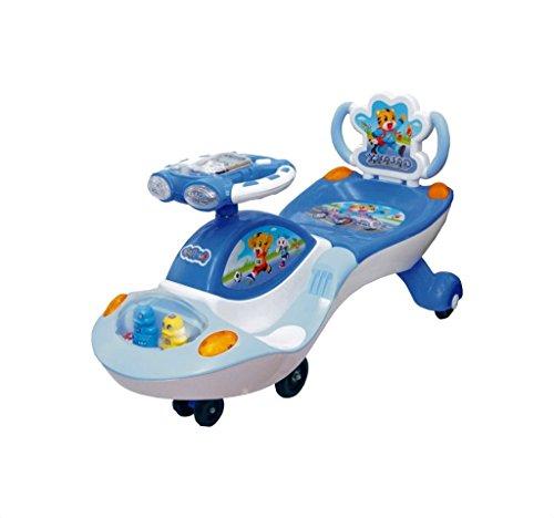 Ehomekart Galaxy Twist and Swing Magic Car, White/Blue