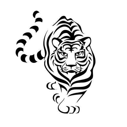 Preisvergleich Produktbild zaosan Dschungel Zoo Tiger Wandaufkleber Für Kinderzimmer Jungen Kindergarten Aufkleber Vinyl Removable Home Decor Tiere KunstwandCM 93x71cm