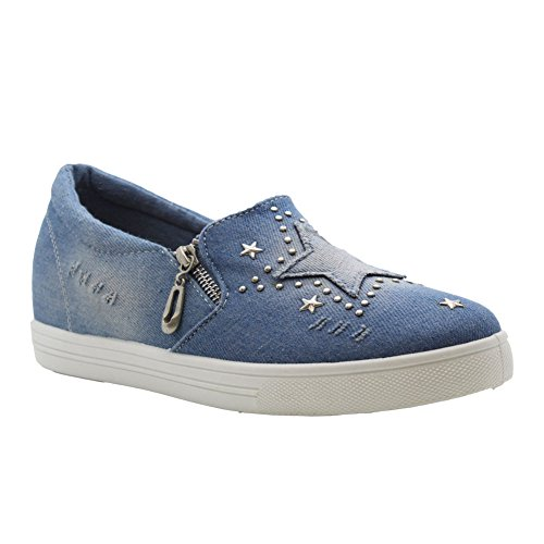 Owgn1x1i Blue Saute Denim De Chaussures Light Styles Skate Femme BqgAR