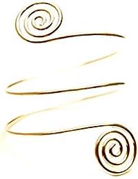 palettei Fashion Metal Hammered Swirl Armband Arm Bracelet - Personality Arm Ring Retro Exaggerated Multi-Layer Bracelet