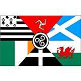 5ftx 3ft SIX CELTIC NATIONS FLAG BANNER PARTY DECORATION