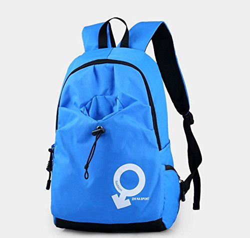 5bb4da2e8ea69 Otomoll Mode Sport Rucksack Tasche Wasserdichte Rucksack Koreanische  Studenten Sky blue (common paragraph)