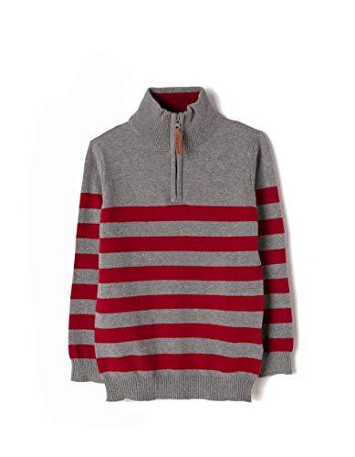 Knit Mock Neck Pullover (ZIPPY Jungen Sweat Mock Neck Knit Jersey Sweatshirt, Grau (Medium Grey Melange 3468 1024175), 6 Jahre (Herstellergröße: 5/6))