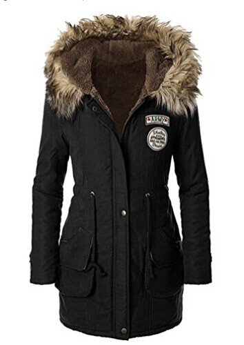 Hikenn Mantel Damen Parka Kapuzejacke Lady Fit Wintermantel Warm Jacke Mit Pelz