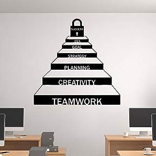 Exquisite Teamarbeit Zusammenarbeit Karriereleiter Dekor Für Büro Aufkleber Removable Home Decoration Schwarz L 58 cm X 58 cm