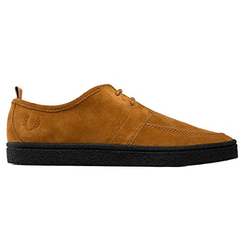 Fred Perry Shields B1166 434 Suede y Crepe. Zapato De Cordones Para Hombre Marron (43 EU, Camel) (Cordones Para Zapatos)