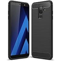 SPAK Samsung Galaxy A6 Plus 2018 Funda,Alta Calidad TPU Ultra Delgado Cubierta de Protección de Silicona para Samsung Galaxy A6 Plus 2018 (Negro)