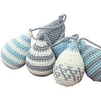Kdjsic nórdico Tejido a Mano para niños Baby Shower decoración de habitación de Fiesta Tejido de algodón Forma de Gota de Agua Colgante Adornos para Colgar en la Pared