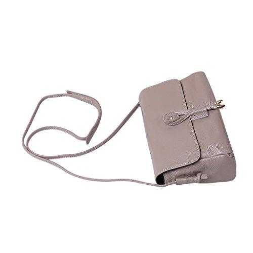 Mena UK Retro modello serpentino femminile Multicolor Genuine Leather Mini Maniglia di carico e scarico Maniche a tracolla Messenger Bag ( Colore : Lotus purple , dimensioni : 22cm*15cm*9cm ) Grigio