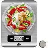 Uten Balance de Cuisine Électronique Balance de Précision Balance de Cuisine Numérique 5kg/11lb Balance Alimentaire avec Fonction Tare et Zéro, Tactile Sensible Écran LCD Rétroéclairé INOX & Argenté