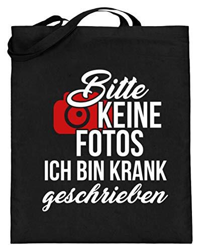 ch Bin Krank Geschrieben Lustiger Spruch - Witziges Design - Jutebeutel (mit langen Henkeln) ()