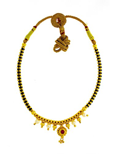 Anuradha Art Golden Finish Designer Traditional Thushi Necklace for Women//Girls