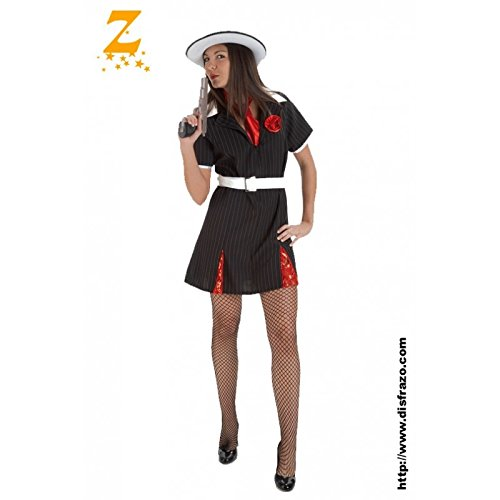 Imagen de disfraz de gánster mafiosa para mujer