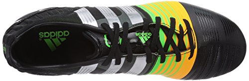 adidas Nitrocharge 2.0 FG Herren Fußballschuhe Schwarz (Black 1 / Metallic Silver / Neon Orange)