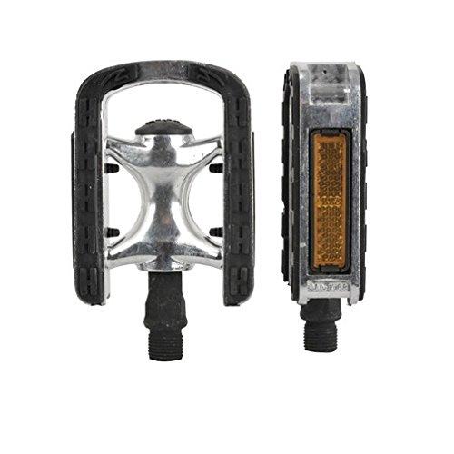FISCHER Pedale Alu, Anti-Rutsch, passend für alle Fahrradtypen mit Reflektoren