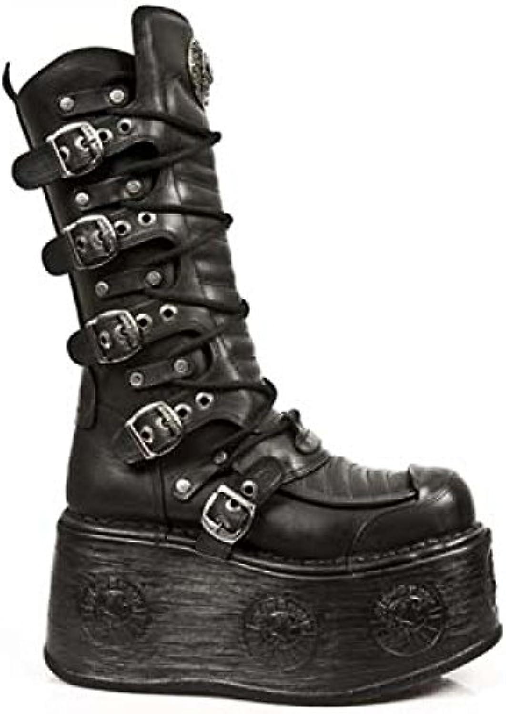 New Rock   Herren Stiefel BLACK BLACK