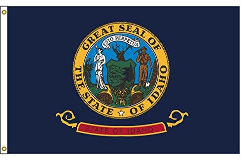 Idaho 6ftx10ft Nylon State Flagge 6x 10Made in USA 6'x10' -